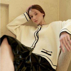 6折起 入欣欣子同款小香外套Hackesch 温柔淑女美衣折扣上新 入其实连衣裙、开衫等