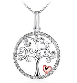 $21.87 (原价$149.99)J.Rosée 生命之树纯银锆钻项链