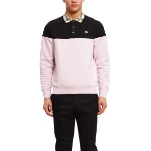 Lacoste for Opening CeremonyMix-Fabric Color Block Sweatshirt