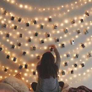 $9.99 (原价$15.99)闪购:Arespark 浪漫照片墙,LED 灯串夹2.5米20个
