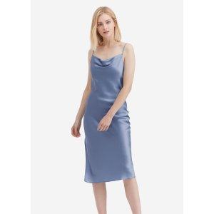 LILYSILK第二件6折真丝连衣裙 封面不同色