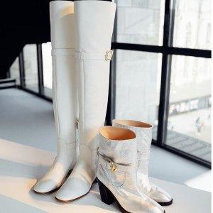 最高送$900礼卡 Jimmy Choo踝靴送$200Saks Fifth Avenue 美靴热卖 SW美腿长靴、当红厚底靴