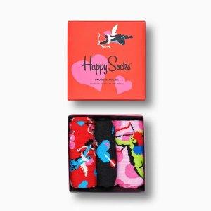 Happy SocksI Love You袜子礼品盒3件装