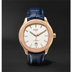 Piaget- Polo S Automatic 42mm 18-Karat Red Gold and Alligator Watch