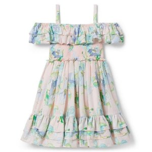Janie and JackTiered Floral Cold Shoulder Dress