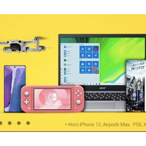 低至4折+每满€100送€10礼品卡Fnac官网 精选闪促 收电子电脑、游戏机、厨房电器等