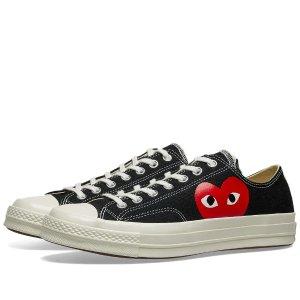 Comme des Garcons Playx Converse 黑色桃心帆布鞋