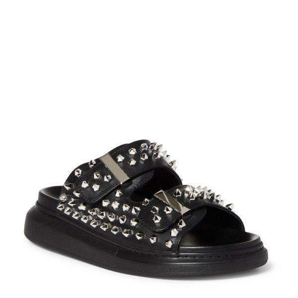 铆钉宽带拖鞋