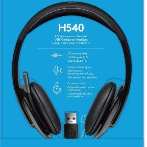 $34.99(原价$69.99)史低价:Logitech H540包耳式耳机 可折叠降噪麦克风