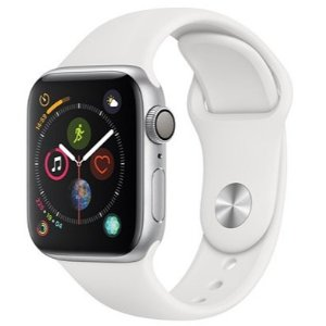 Watch Series4 GPS,40mm Silver Aluminum Case with White Sport Band