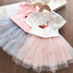 火烈鸟纱裙