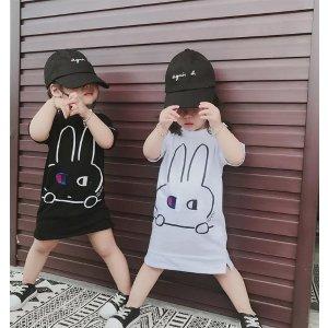 超可爱兔子长款T恤 白色款