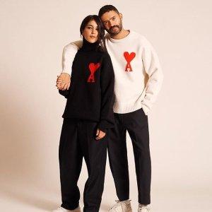 情人节跟你爱的人一起穿Ami 美衣上新热卖,超A的小桃心,充满爱意的设计