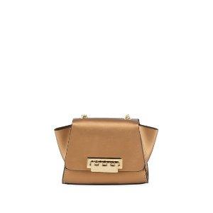 Zac Zac PosenEartha Mini Metallic Leather Chain Crossbody Bag Rust/Copper