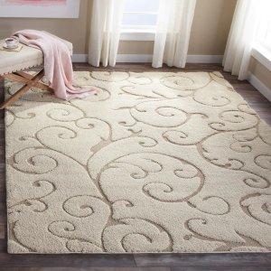 Safavieh假日风优雅奶白色地毯8x10
