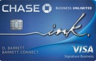 Earn $500 bonus cash backNew! Ink Business Unlimited℠ Credit Card