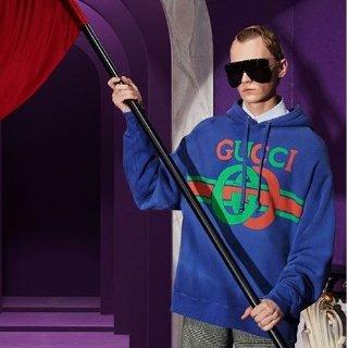 8折 收Gucci网红复古T恤$374独家:LN-CC潮衫专场 Gucci、Off-White、Vetements等大牌上新