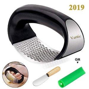 Vantic 摇滚压蒜器+小刮刀+硅胶去蒜皮工具
