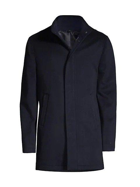 男士羊绒混纺大衣