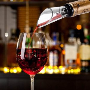 $10.99(原价$30.99) 免税史低价:Haolide 葡萄酒专用套件 气压开瓶器、瓶塞、倒酒器