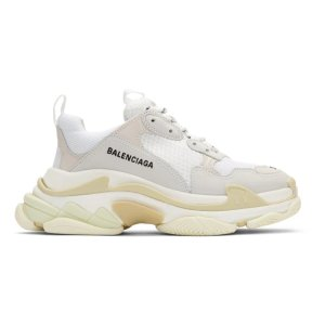 Balenciaga- White Triple S Sneakers