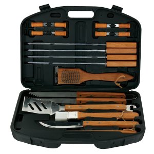 $13Mr. Bar-B-Q 94001X 18-Piece Stainless-Steel Barbecue Set with Storage Case