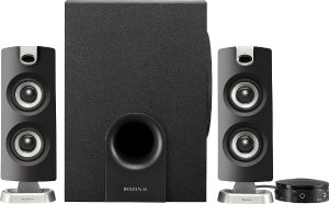 $24.99(原价$59.99)Insignia 2.1 声道 蓝牙音箱(带低音炮) 无线连接
