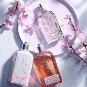 沐浴露¥132,身体乳¥168L'OCCITANE 欧舒丹 甜蜜樱花系列身体护理