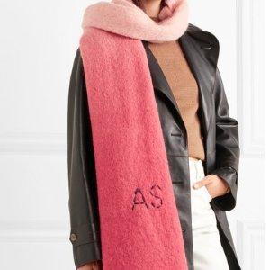 $273(原价$390)Acne Studios 海马毛混纺围巾