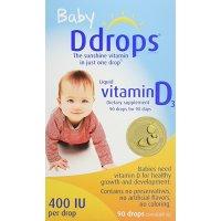 Ddrops 哺乳期婴儿维生素D3滴剂 400IU 90滴