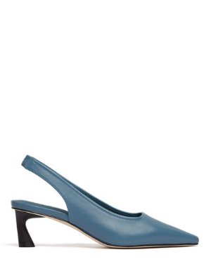 BROOKLYN - SLINGBACK POINTED PUMPS | HEELS | All Shoes | Pedder Red