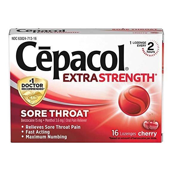 加强型止痛喉糖 樱桃味 16粒