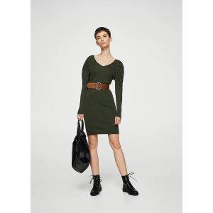 MangoTextured shift dress