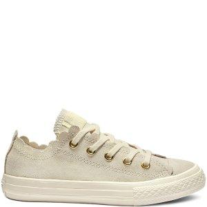 Converse米色花边帆布鞋