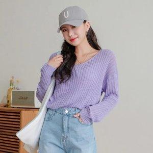 SheIn8.8折香芋紫线衫
