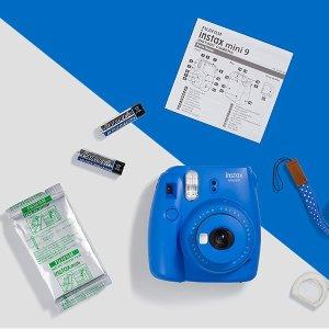 附10张相纸,现价£59.26(原价£74.99)Fujifilm Instax Mini 9 拍立得相机特卖