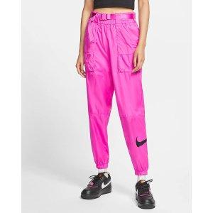 Nike粉色运动裤