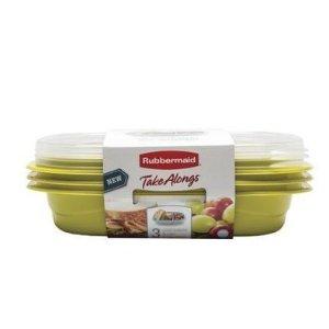 $2.46Rubbermaid 食物保鲜盒 3盒