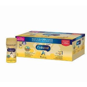 $49.37 (原价$54.97)美赞臣Enfamil A+ 1段即开即用液体奶 237毫升×18瓶