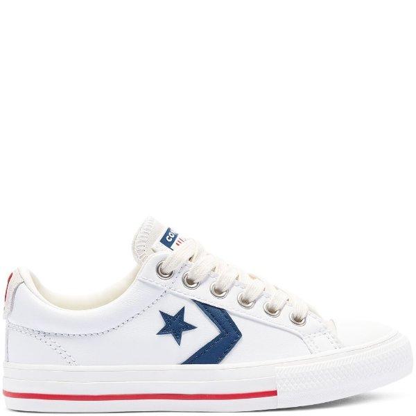 大童款 皮质 平底鞋