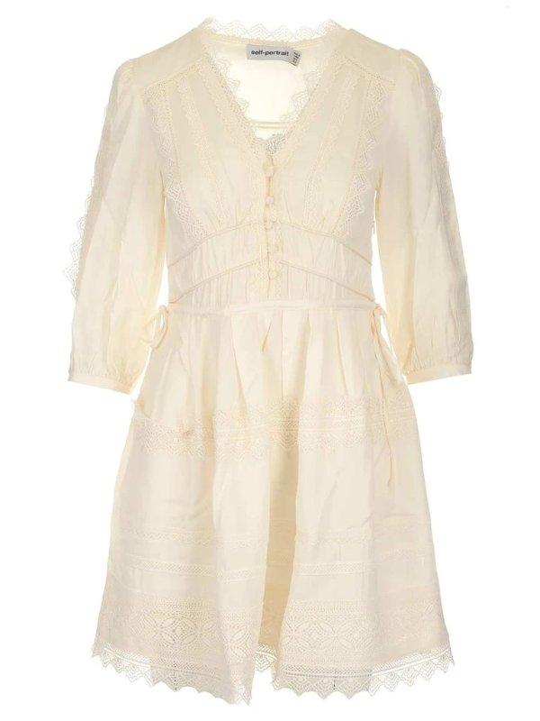 Lace Trim 奶白色蕾丝裙