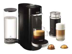 Nespresso VertuoPlus Deluxe Coffee and Espresso Maker by De'Longhi with Aeroccino, Black