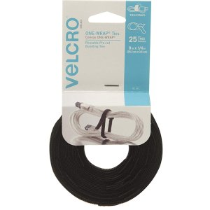 VELCRO Brand ONE WRAP Thin Ties 8 x 1/4-Inch 25 Count