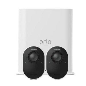 $739 近期好久 限时结束Arlo Ultra 4K 超清无线家用监控 2摄像头套装