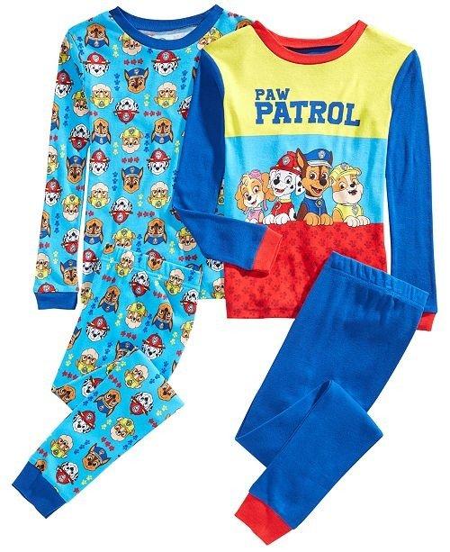男幼童睡衣4件套套装