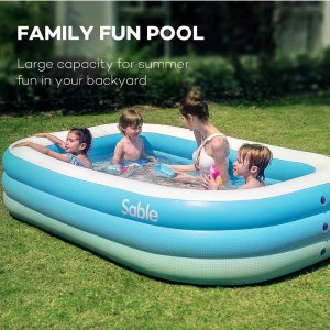 史低价:Sable 充气家庭小泳池 好价囤货