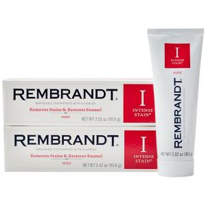 $11.38 包邮Rembrandt 强效美白去渍牙膏 薄荷味 100g(2盒)