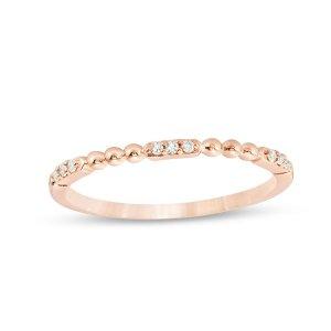 玫瑰金钻石戒指