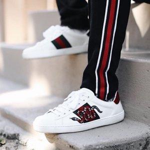 低至3折 £375收小白鞋Gucci 鞋子惊喜大促 小白鞋、老爹鞋、乐福鞋都有
