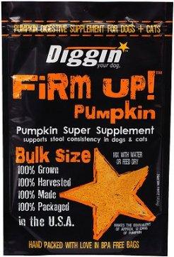 Diggin' Your Dog Firm Up! Pumpkin Super Dog & Cat Supplement, 16-oz bag - Chewy.com
